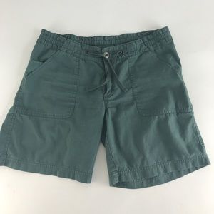 Patagonia Cotton Sz 4 Shorts Green Drawstring